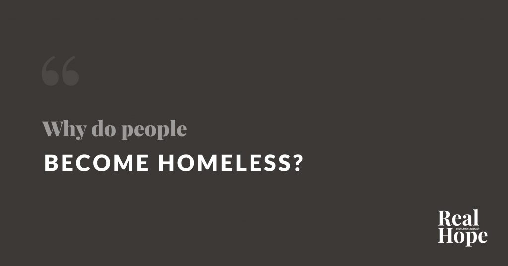 why do people become homeless